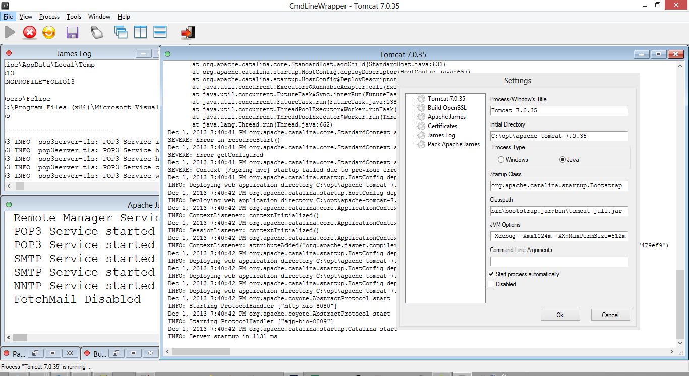 CommandLineWrapper screenshot